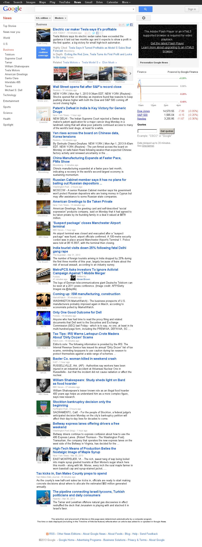 Google News: Business at Monday April 1, 2013, 2:07 p.m. UTC
